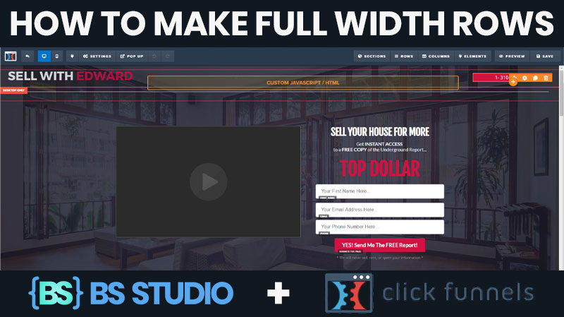 [Click Funnels Tuts] How To Make Full Width Rows